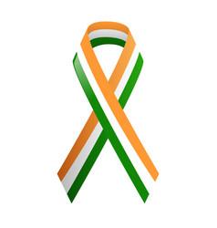 ribbon india national colors vector image
