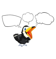 A black bird with empty callouts vector image