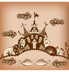 Castle brown vector