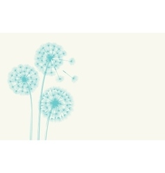Dandelion concept vector image