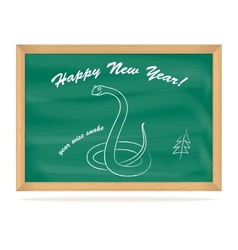 School Board with snake vector image