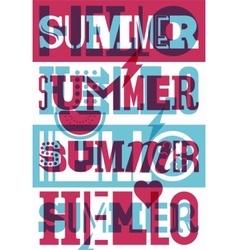 Summer typographic retro poster design vector image