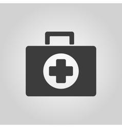 The medicine chest icon Ambulance symbol Flat vector image