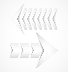Two white arrows concept designs vector image