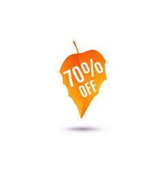 70 percent off discount vector image