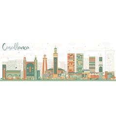 Abstract casablanca skyline vector
