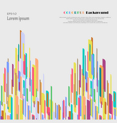 Abstract of twin towers colorful background vector