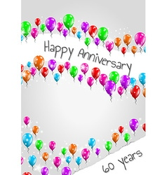 Anniversary poster 60 years vector