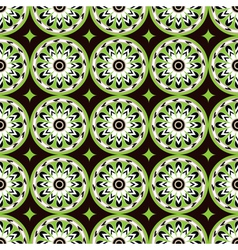 assiria green flowers vector image