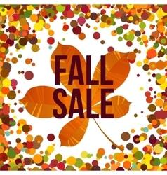 Autumn seasonal sale label vector image