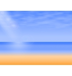 background empty sea beach vector image