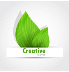 Background with two leaves vector