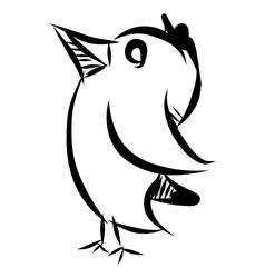 Bird doodle sketch vector image
