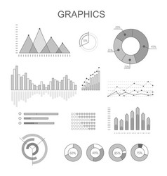 Black and white graphics poster with diagrams vector