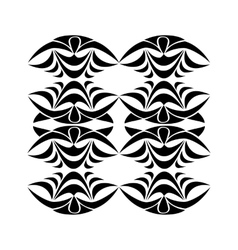 Black tribal ornament vector