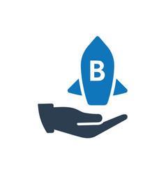 Brand development icon vector
