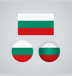 bulgarian trio flags vector image