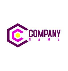 c hexagon logo concept vector image