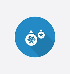 Christmas Decorations Flat Blue Simple Icon with vector
