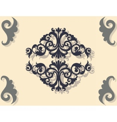Classic baroque ornament pattern vector
