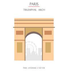 colorful paris landmark 6 vector image