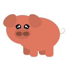 cute pig cartoon icon vector image