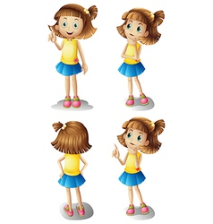 Different moods a young girl vector
