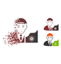 Disappearing dot halftone cardano trader icon vector