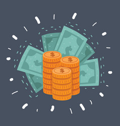 dollar stack pack icon vector image