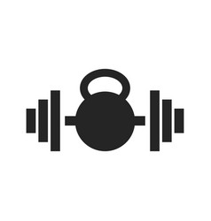 dumbbell gym graphic icon design template vector image