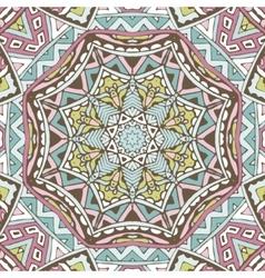 Ethnic seamless pattern Vintage indian geometric vector