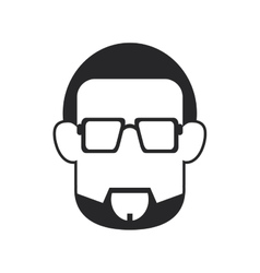 Faceless bearded man portrait icon vector