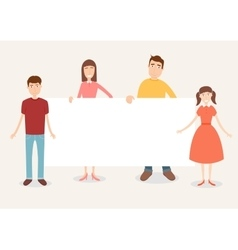 Family portrait with space for text Traditional vector