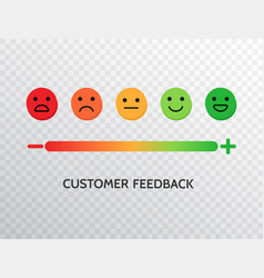 feedback design with emotions scale background vector image