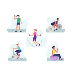 fitness and gym sports concept vector image