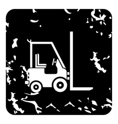Forklift icon grunge style vector