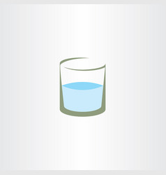 glass of water icon logo symbol vector image