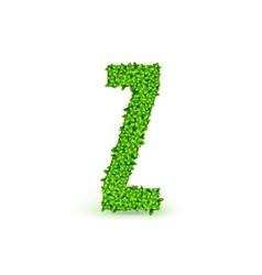 Green Leaves font Z vector image
