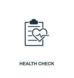 health check icon premium style design from vector image