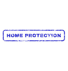 Home protection rubber stamp vector
