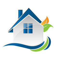 house home environment friendly logo vector image