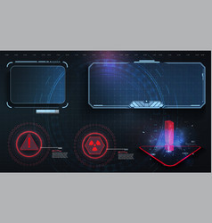 hud ui gui futuristic user interface screen vector image