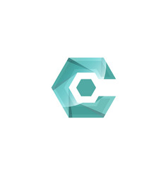 initial c abstract logo template and inspiration vector image