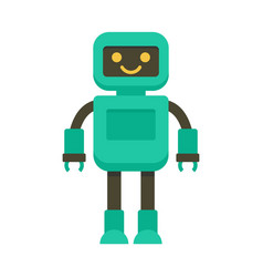 Intelligent robot icon flat style vector