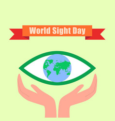 International sight day concept background flat vector