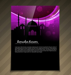Islamic brochure deesign vector