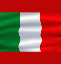 Italy flag italian national symbol vector