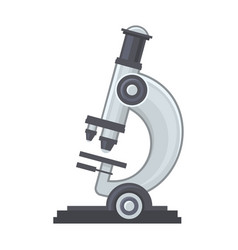 laboratory microscope icon on white background vector image