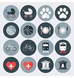 Lifestyle symbols flat icons set vector