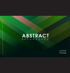 modern abstract green geometrical background vector image